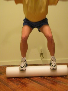 One of many uses for the foam roller.