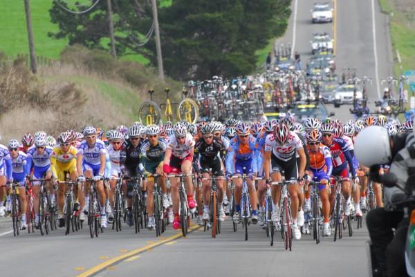 Cyclists in Tour de Amgen